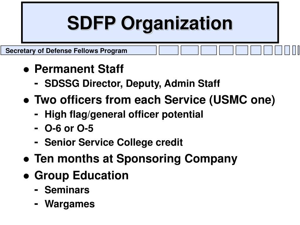 SDFP Organization
