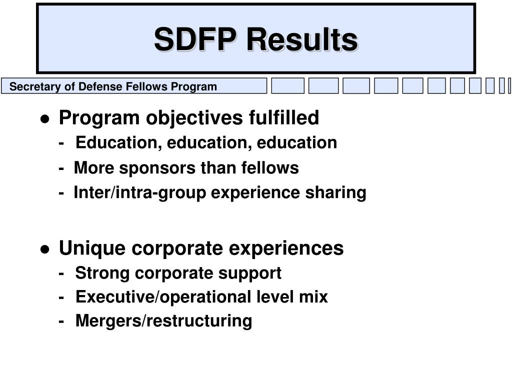 SDFP Results