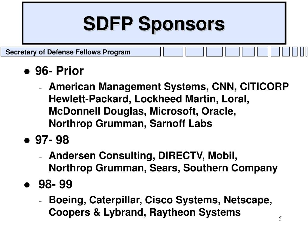 SDFP Sponsors