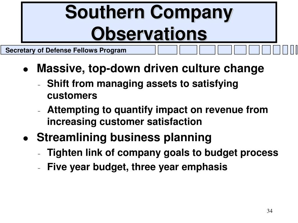 Southern Company Observations