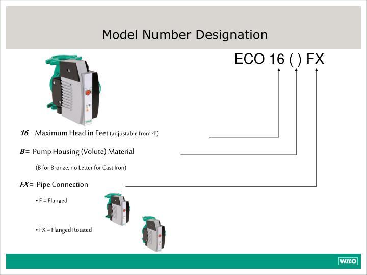 Model Number Designation
