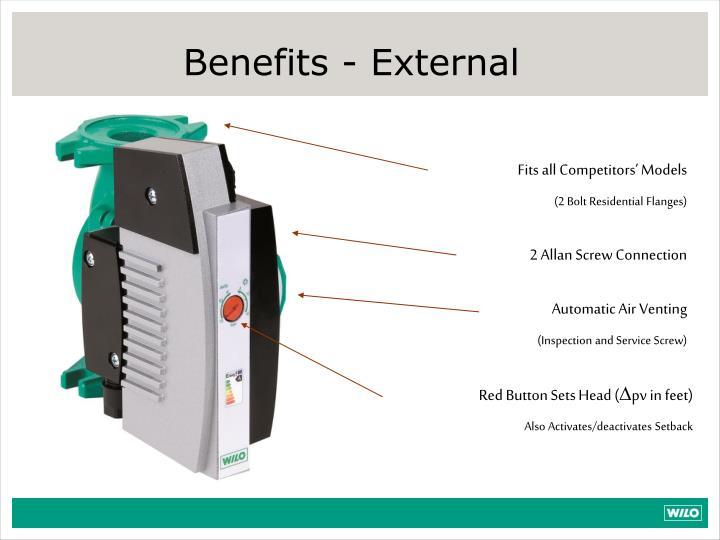 Benefits - External