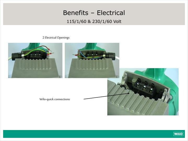 Benefits – Electrical
