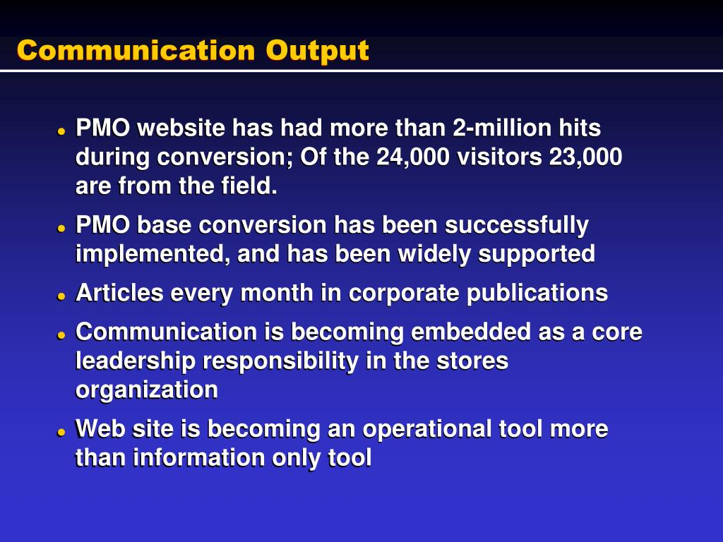 Communication Output