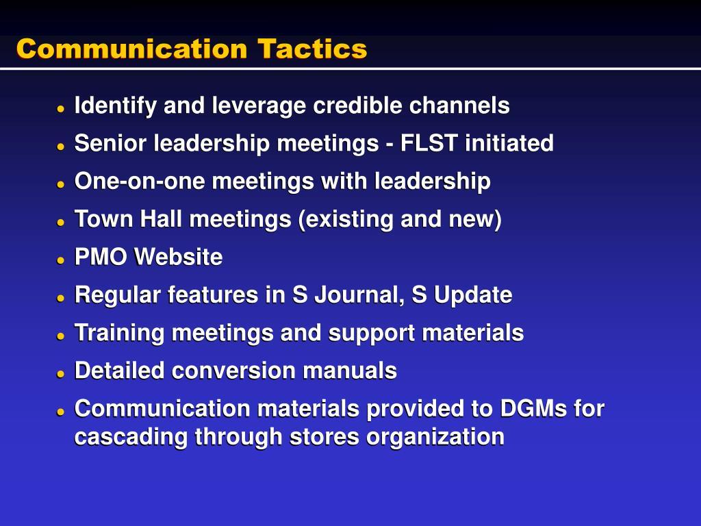 Communication Tactics
