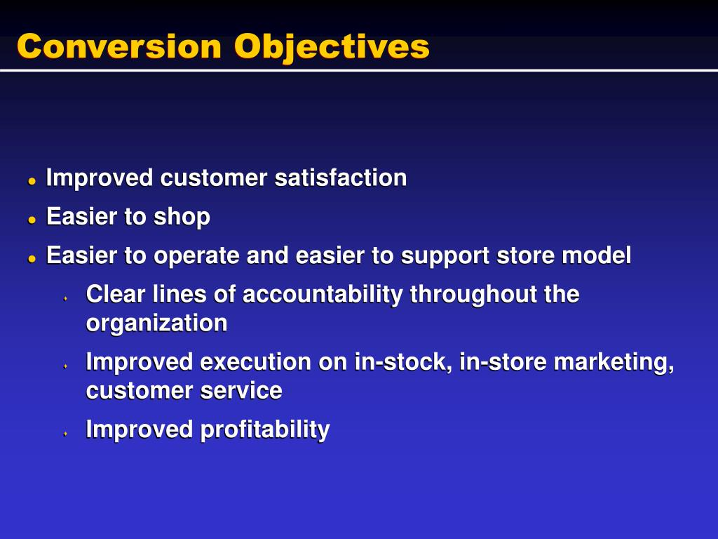Conversion Objectives