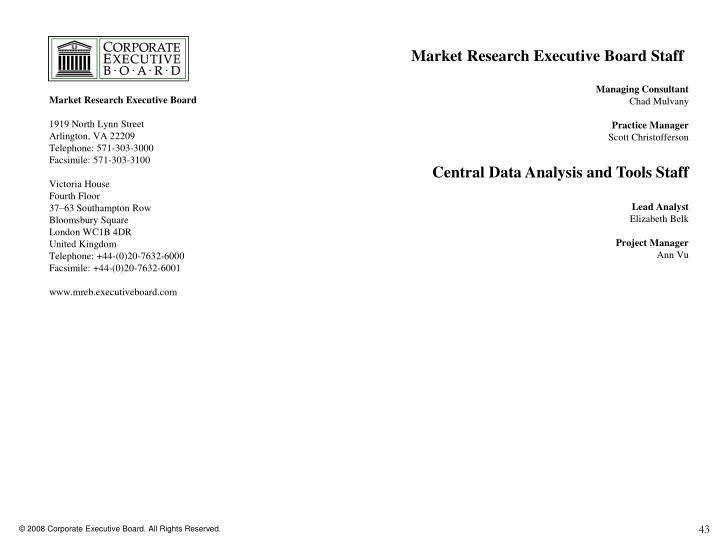 Market Research Executive Board Staff