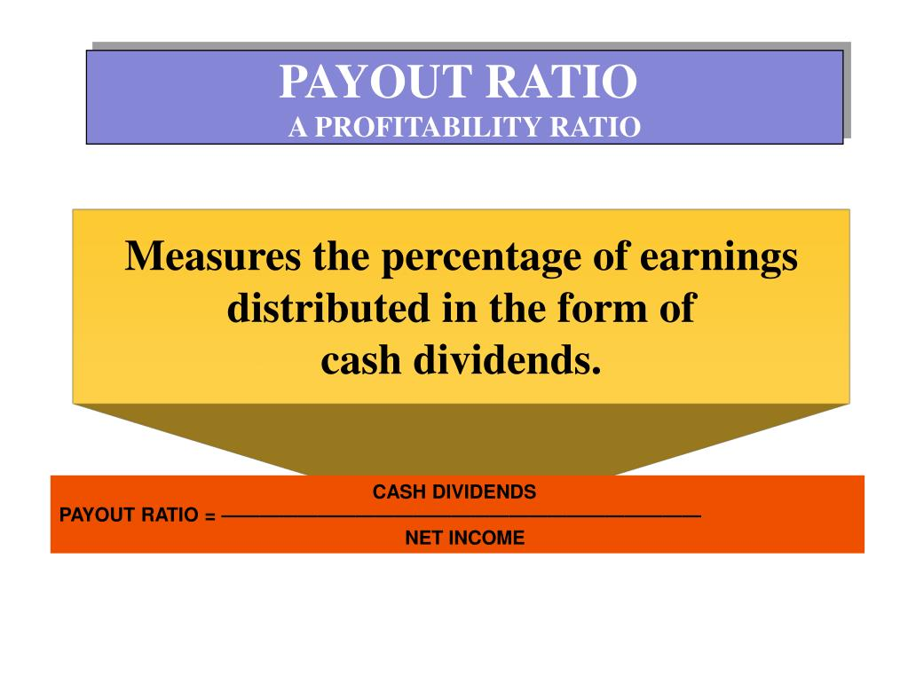 PAYOUT RATIO