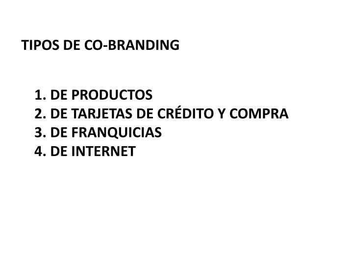 TIPOS DE CO-BRANDING