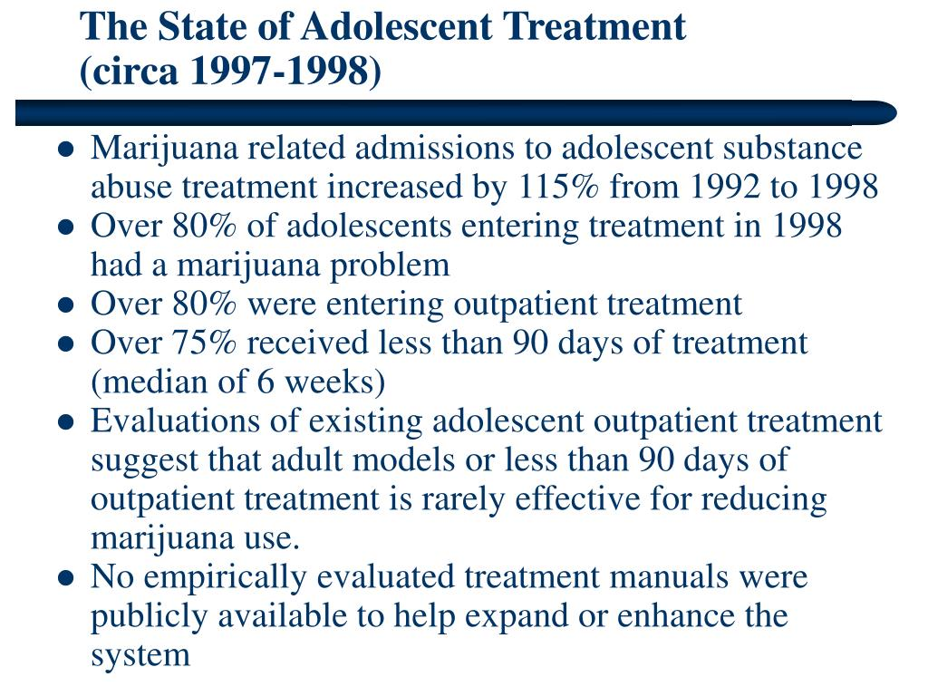 The State of Adolescent Treatment