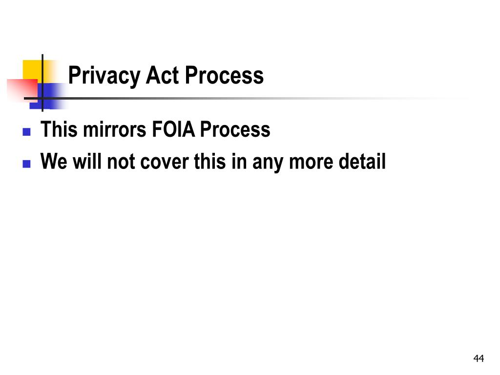 Privacy Act Process