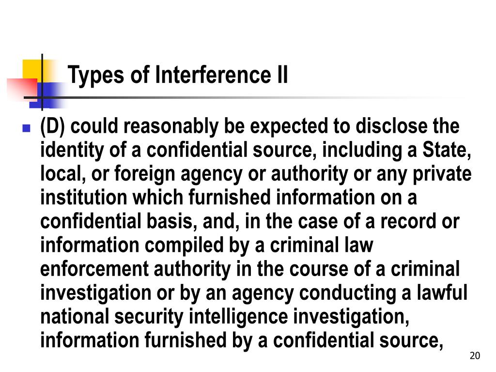 Types of Interference II