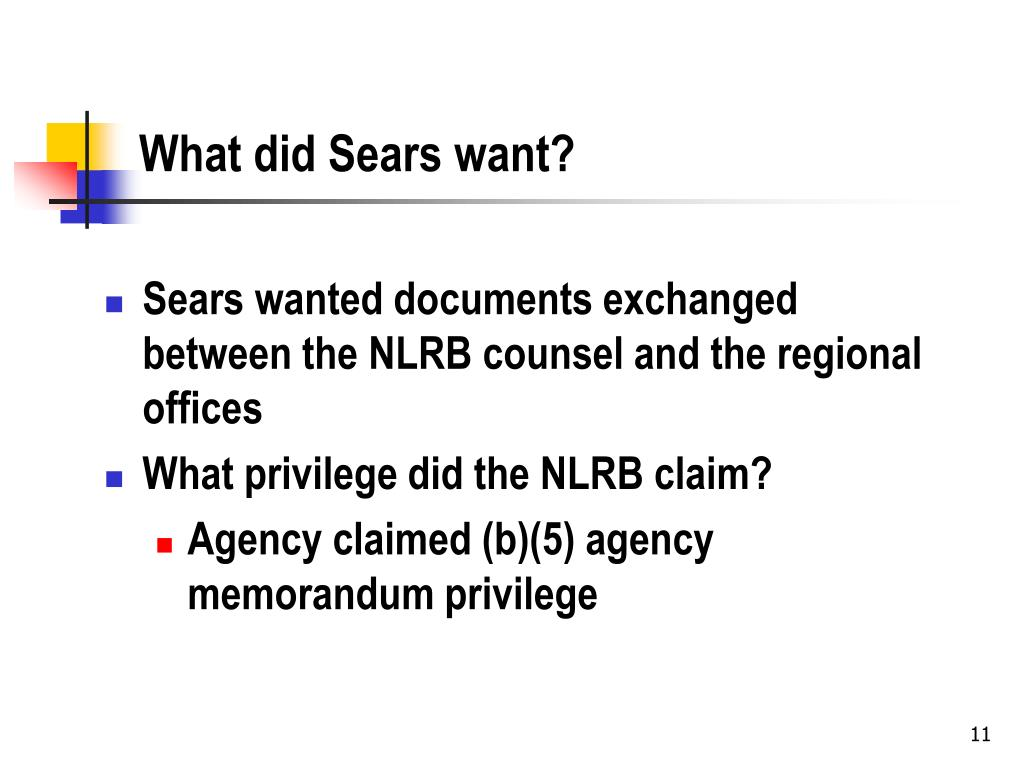 What did Sears want?