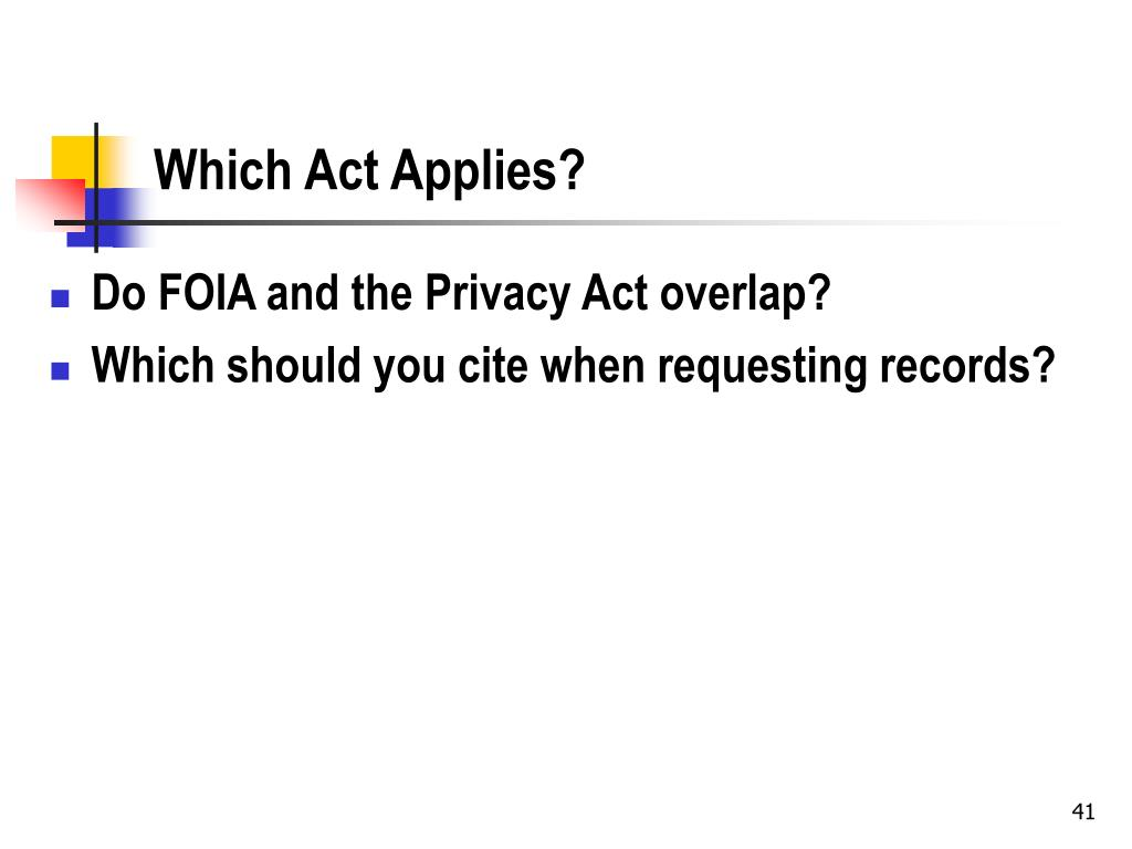 Which Act Applies?