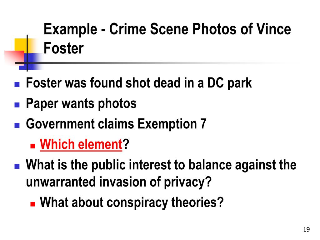 Example - Crime Scene Photos of Vince Foster