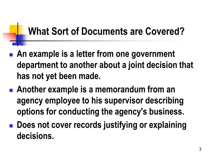 What sort of documents are covered l.jpg