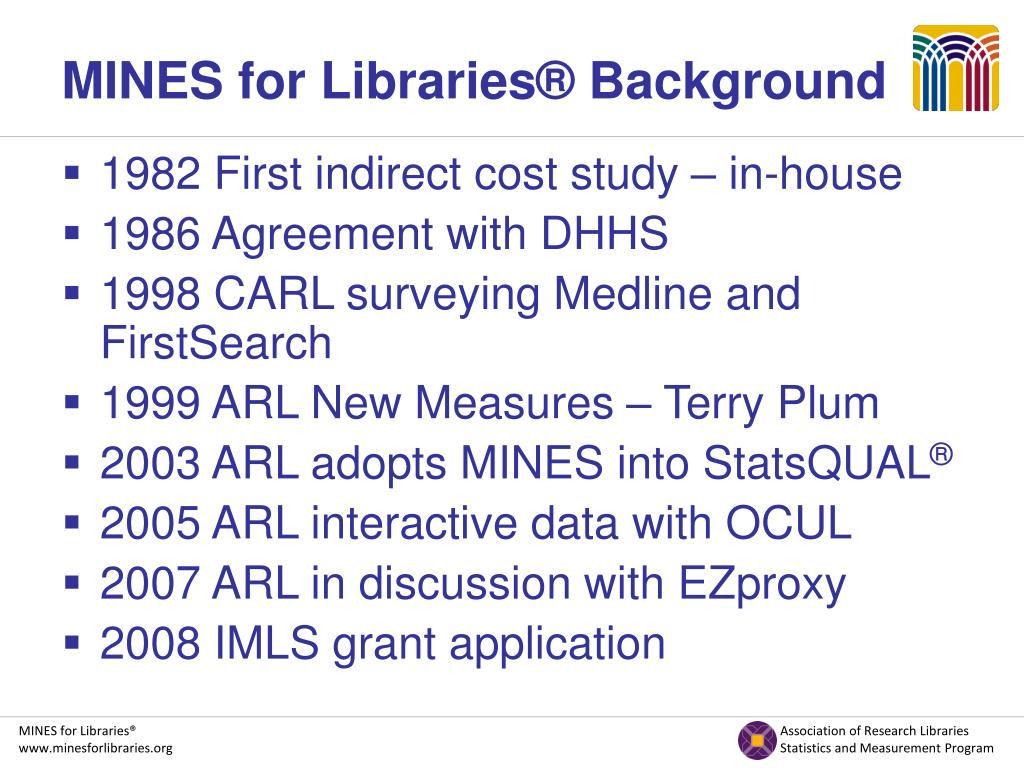 MINES for Libraries® Background