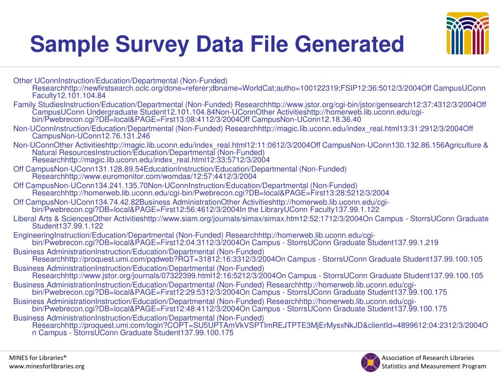 Sample Survey Data File Generated