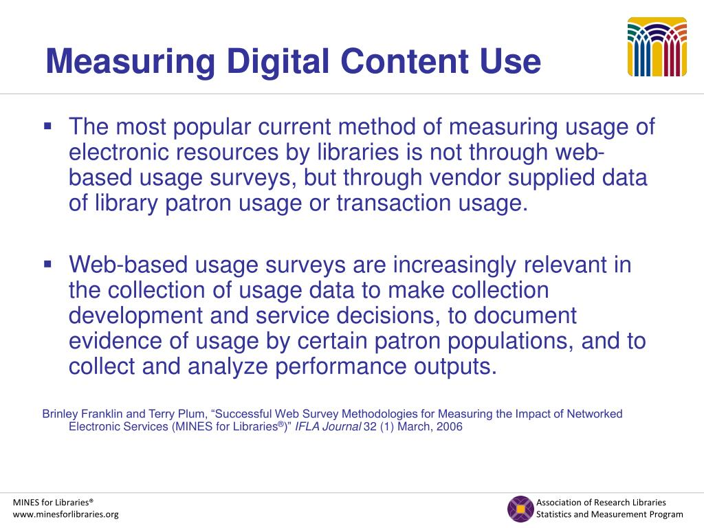 Measuring Digital Content Use
