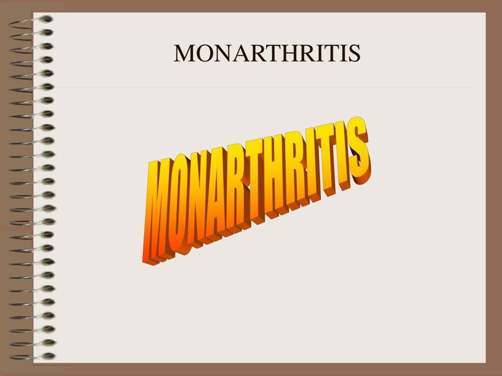 MONARTHRITIS