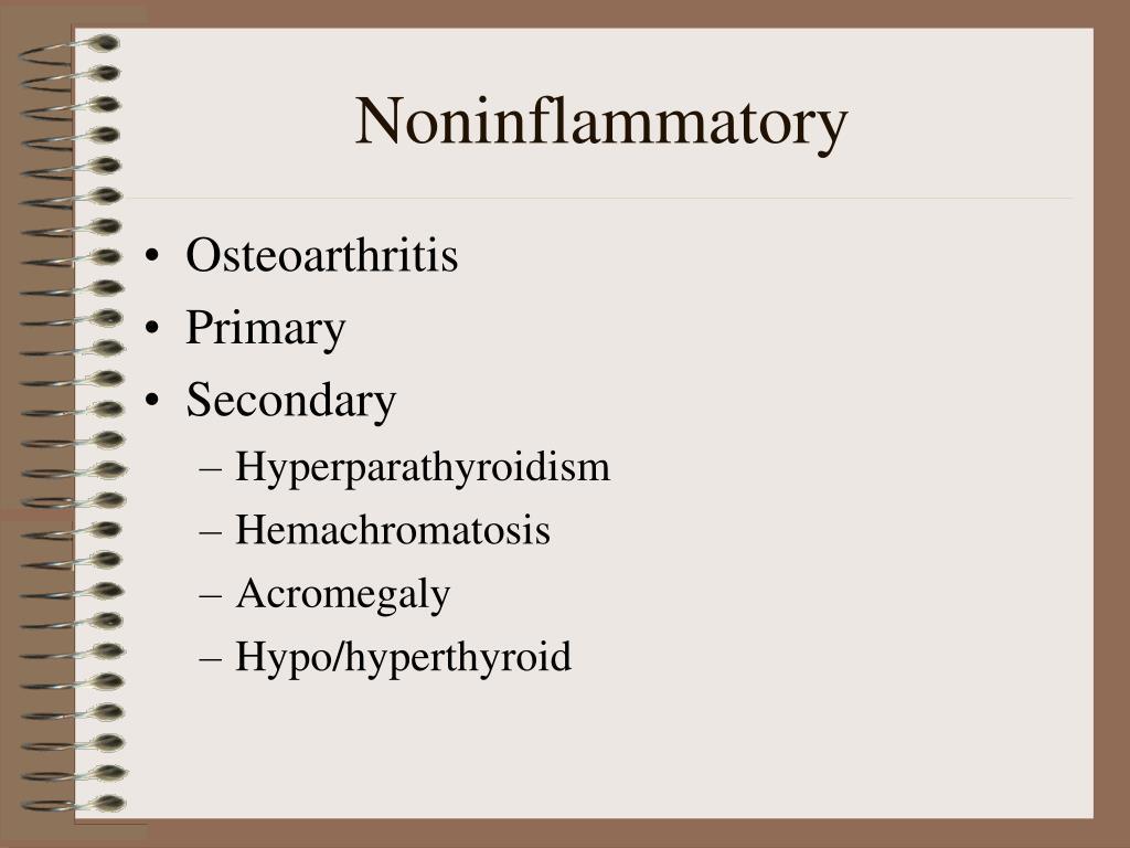 Noninflammatory