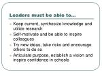 leaders must be able to5