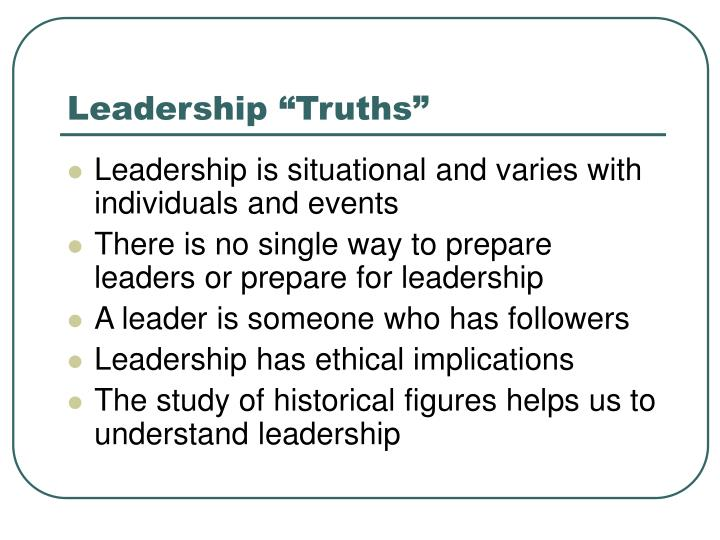 Leadership truths