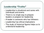 leadership truths