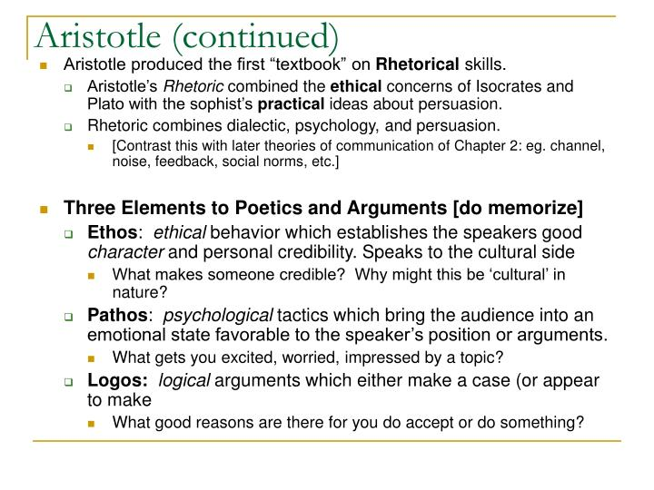 Aristotle (continued)