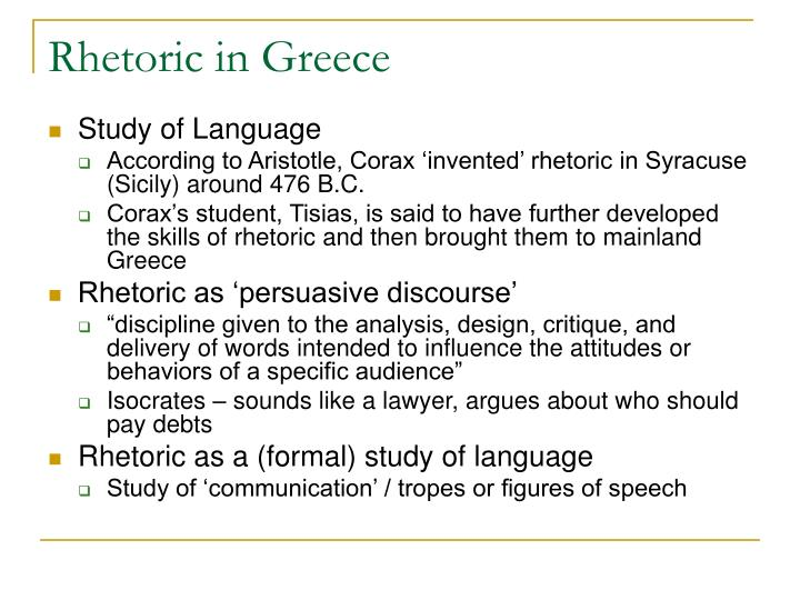 Rhetoric in Greece