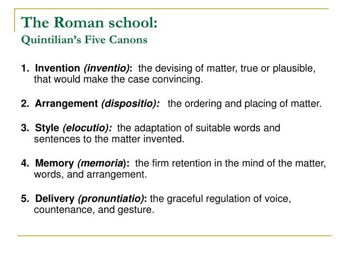 The Roman school:
