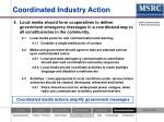 coordinated industry action