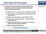 joint plans processes
