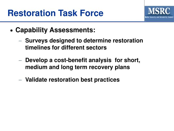 Restoration Task Force