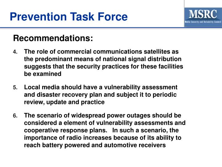 Prevention Task Force