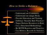 how to strike a balance17