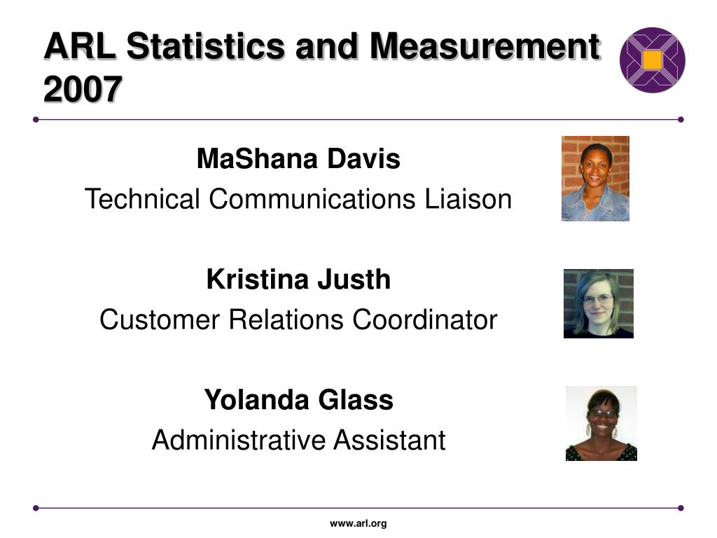 ARL Statistics and Measurement 2007