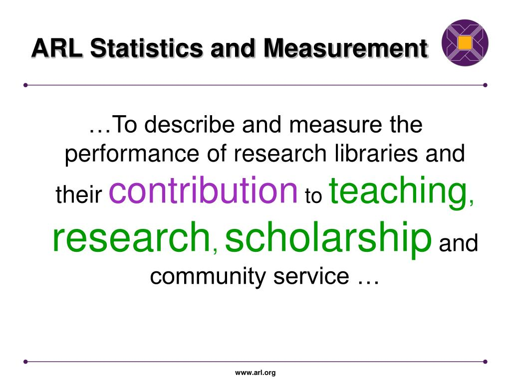 ARL Statistics and Measurement