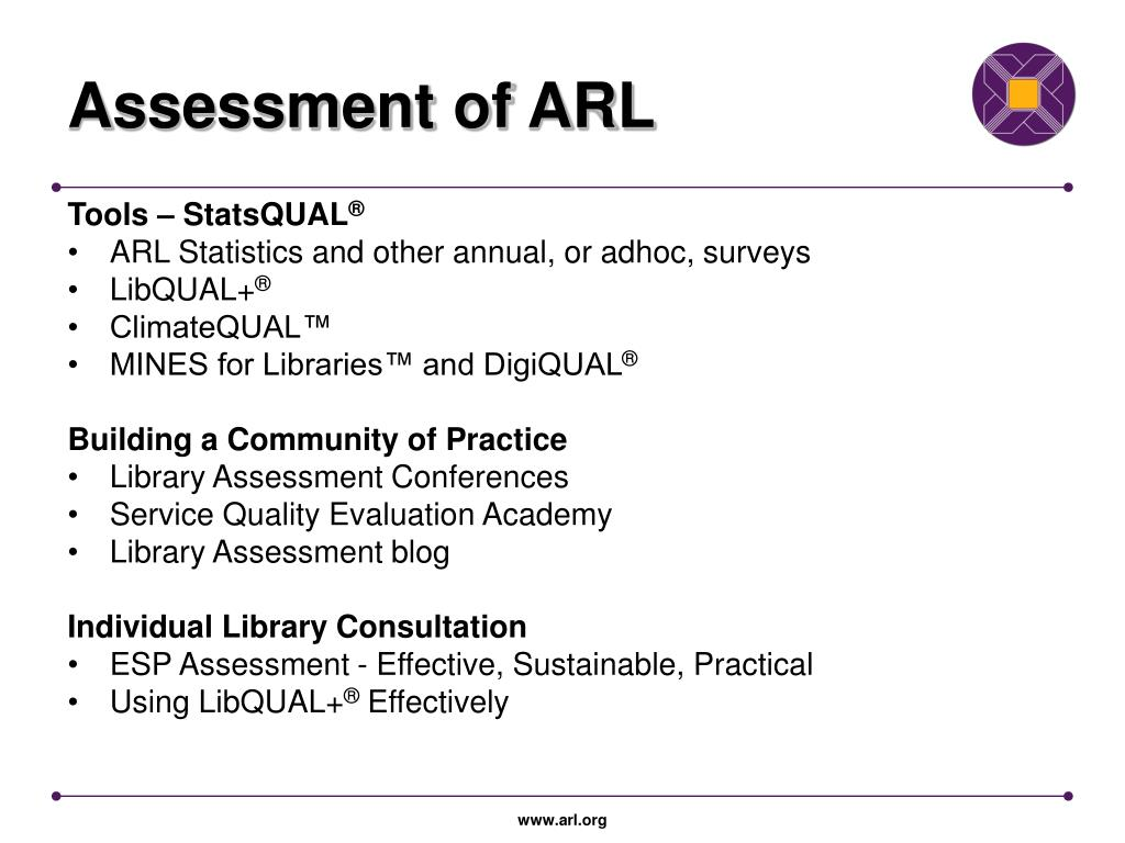 Assessment of ARL