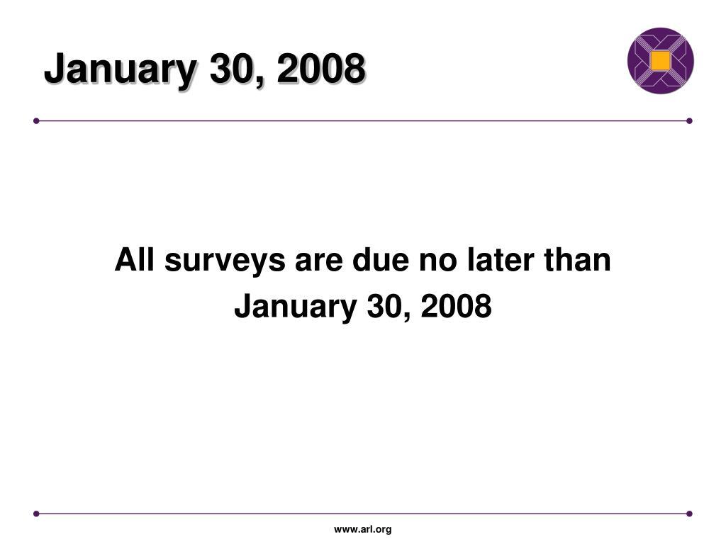 January 30, 2008