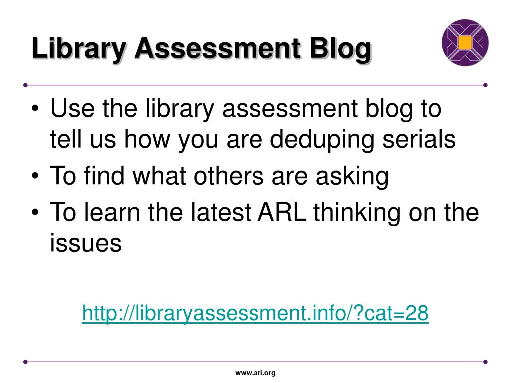 Library Assessment Blog