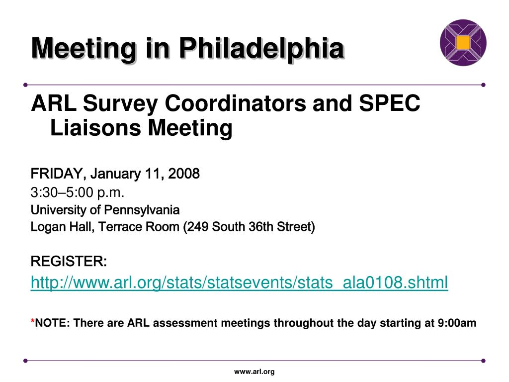 Meeting in Philadelphia