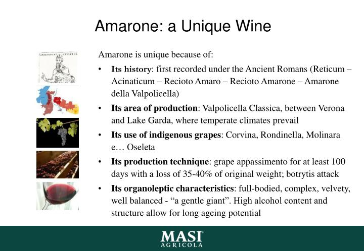 Amarone: a Unique Wine