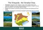 the vineyards the venetian area