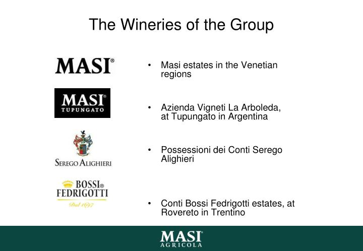 The Wineries of the Group