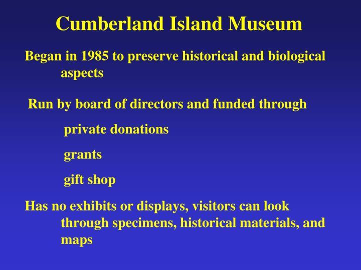 Cumberland Island Museum