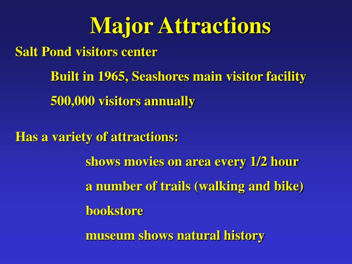 Major Attractions