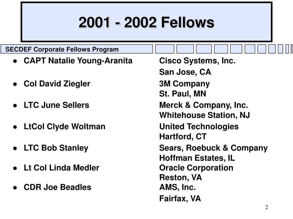 2001 - 2002 Fellows
