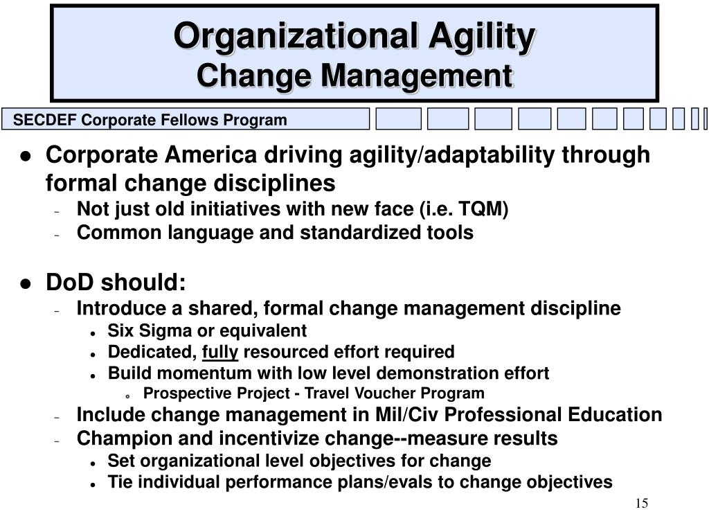 Organizational Agility