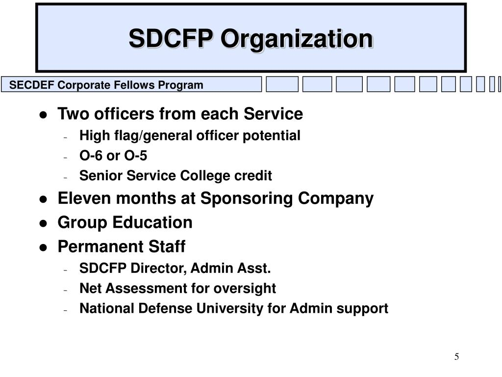 SDCFP Organization
